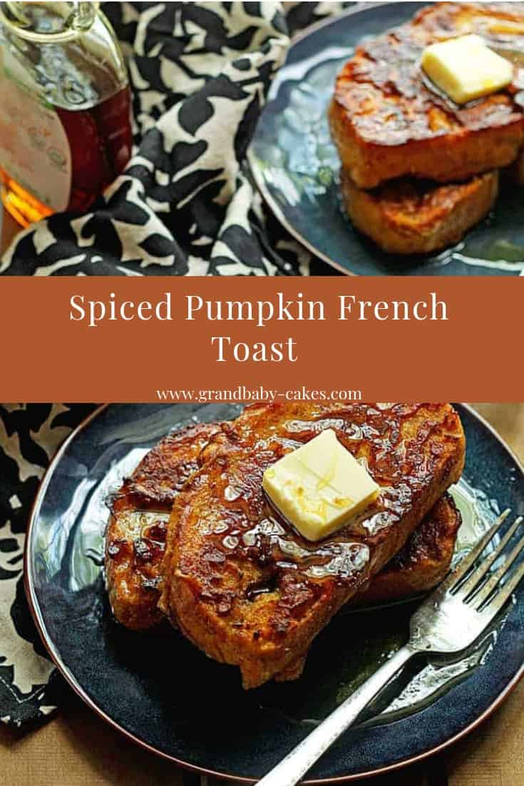 Pumpkin Spice French Toast - A perfectly delicious pumpkin spice french toast recipeis here to make your Fall mornings so much better. #frenchtoast #breakfast #pumpkin #fall