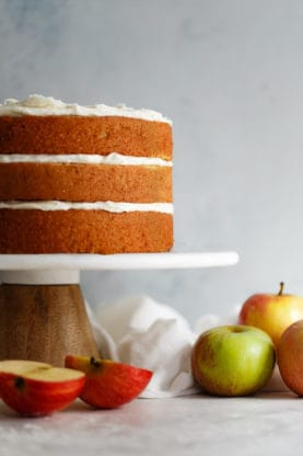 Spiced Cider Apple Cake Recipe with Brown Butter Frosting | Grandbaby Cakes
