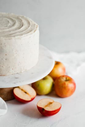 apple cider cake 6low 277x416 - Spiced Cider Apple Cake Recipe with Brown Butter Frosting