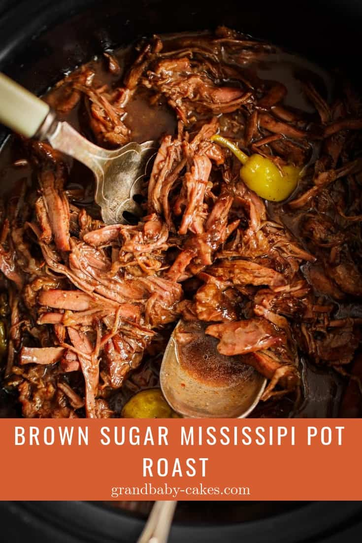 Brown Sugar Mississippi Pot Roast Recipe - Prepared in a flash, this tender, flavorful, savory yet sweet pot roast that melts in your mouth is calling your name! #potroast #beef