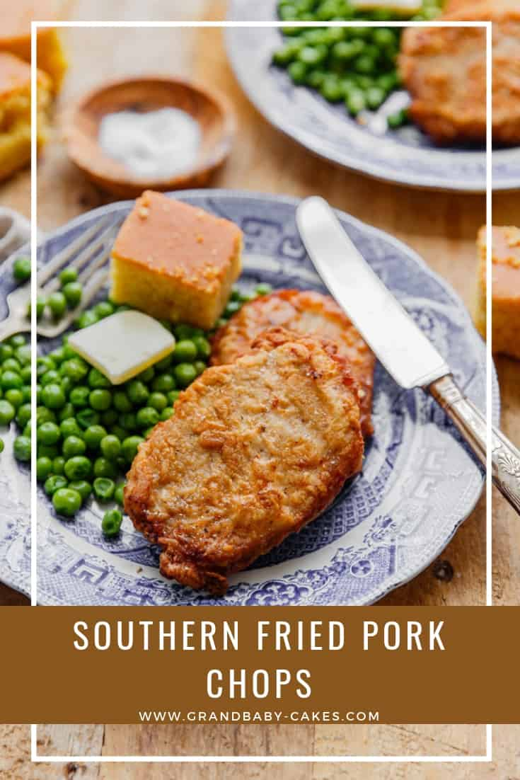Southern Fried Pork Chops Recipe - Tender and juicy and downright addictive, these fried pork chops are marinated in a spicy buttermilk, breaded in a flavorful flour dredge then pan fried until golden brown creating the ultimate crunch and deliciousness. #porkchops #fried