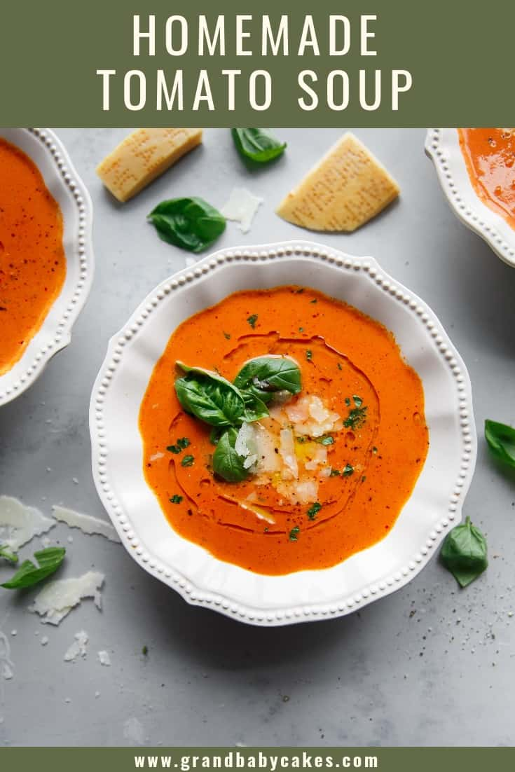 Homemade Tomato Basil Soup Recipe (Instant Pot) - Rich and comforting, the incredible flavors of tomato, sherry, butter and cream create the perfect soup recipe done quickly in an Instant Pot! #soup #tomatosoup #instantpot