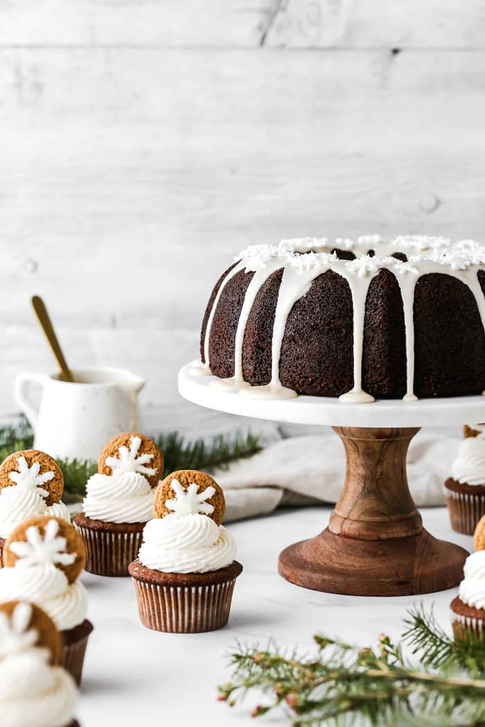 Gingerbread Cupcakes and Gingerbread Pound Cake 1 - Deliciously Moist Gingerbread Cake Recipe