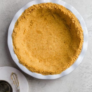 Graham Cracker pie crust in pie plate