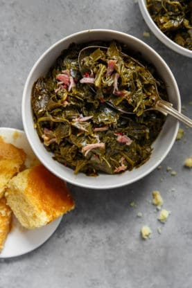 Collard Greens Recipe 1 277x416 - Southern Collard Greens Recipe (Just like your Grandma's recipe!)