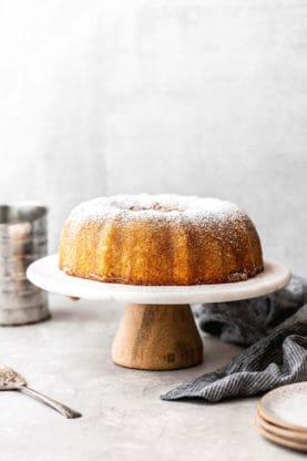Kentucky Butter Cake Recipe 1 277x416 - Kentucky Butter Cake Recipe with Brown Butter Glaze!