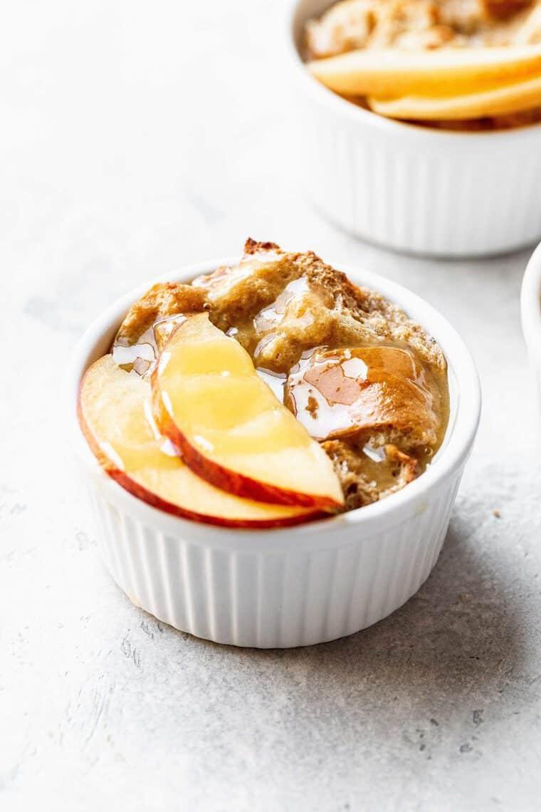 Peach Cobbler Bread Pudding 1 e1564330075656 - Peach Cobbler Bread Pudding PLUS A VIDEO - A Fun Twist on Classic Peach Bread Pudding!