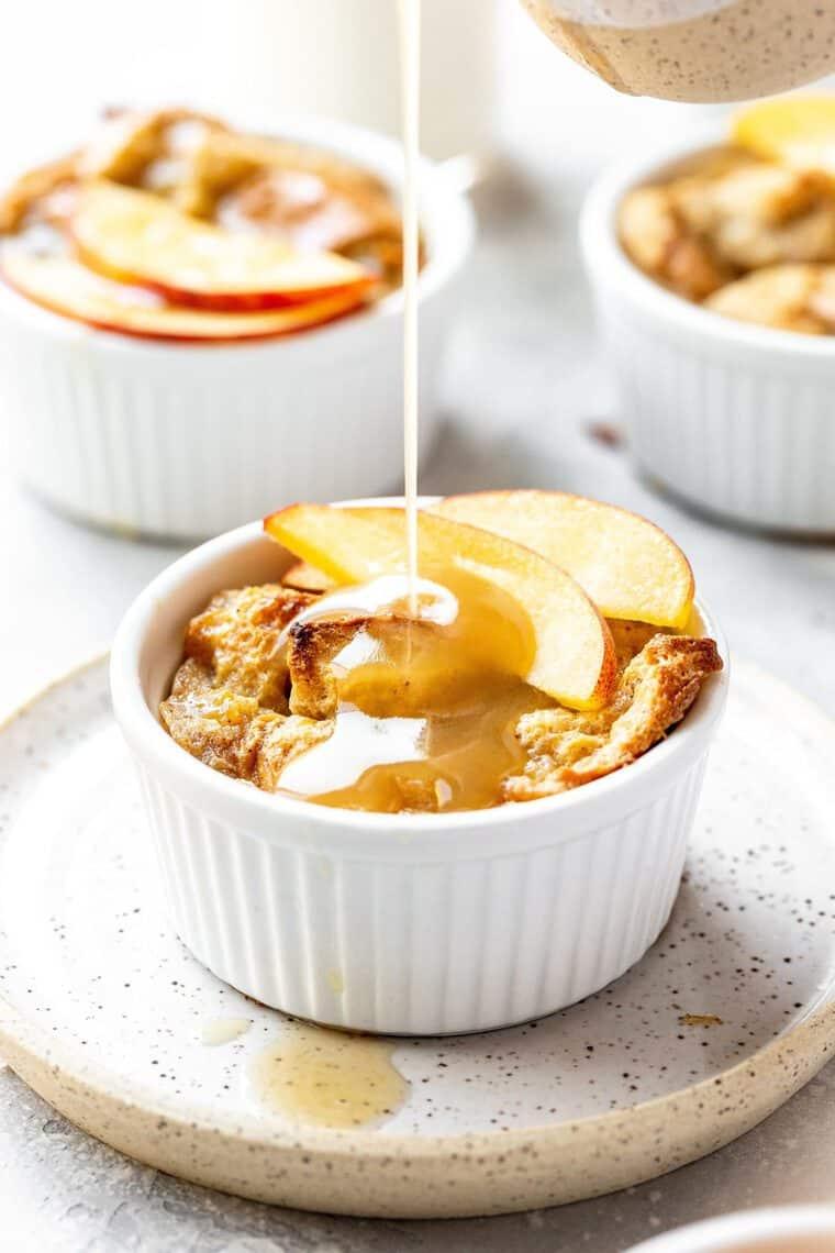 Peach Cobbler Bread Pudding 4 e1564329813835 - Peach Cobbler Bread Pudding PLUS A VIDEO - A Fun Twist on Classic Peach Bread Pudding!