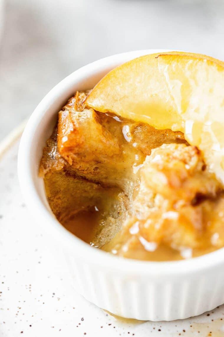 Peach Cobbler Bread Pudding 5 e1564330311400 - Peach Cobbler Bread Pudding PLUS A VIDEO - A Fun Twist on Classic Peach Bread Pudding!