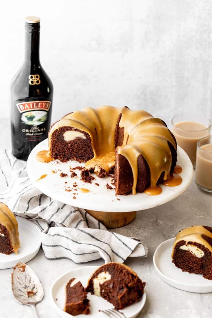Baileys Chocolate Bundt Cake Recipe 10 - Baileys Chocolate Bundt Cake Recipe with Cream Cheese Filling