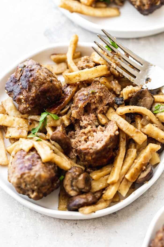 Salisbury Steak Meatball Skillet 6 - Salisbury Steak Meatball Noodle Skillet