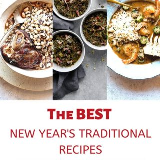 The BEST New Year's Traditional recipes in a collage
