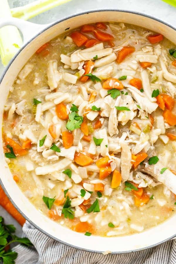 Creamy Chicken Noodle Soup 2 - Creamy Chicken Noodle Soup Recipe
