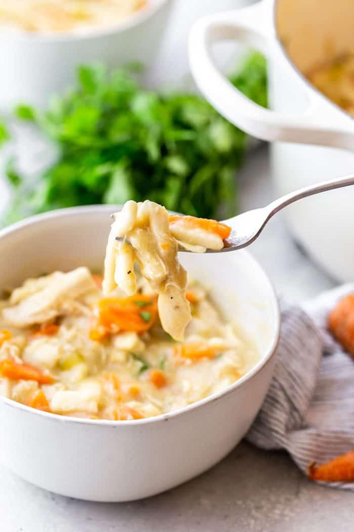 Creamy Chicken Noodle Soup 6 - Creamy Chicken Noodle Soup Recipe