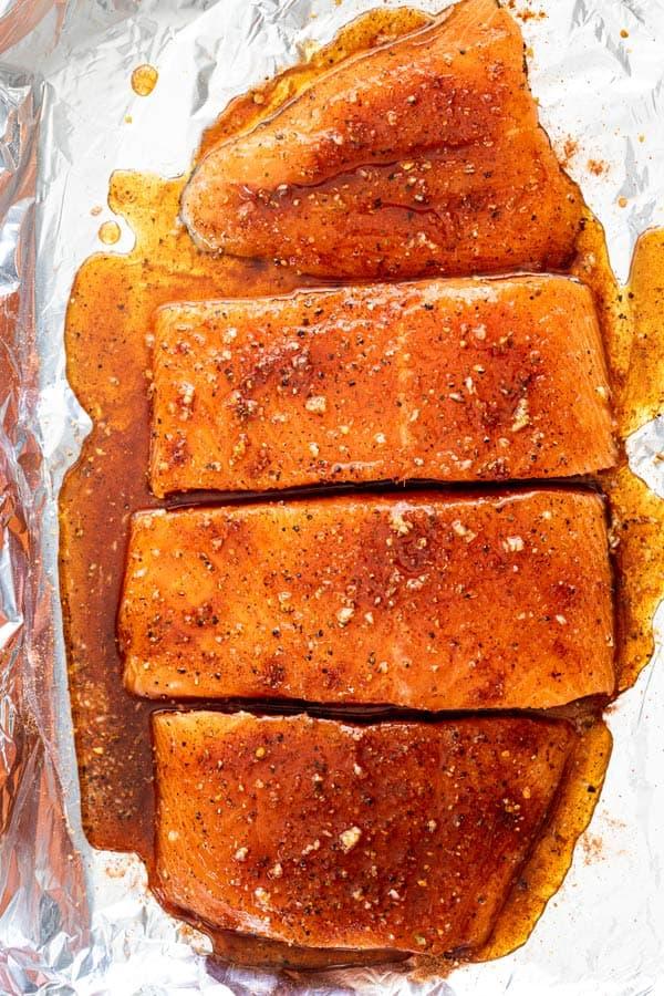 Maple glazed salmon 2 - Maple Glazed Salmon