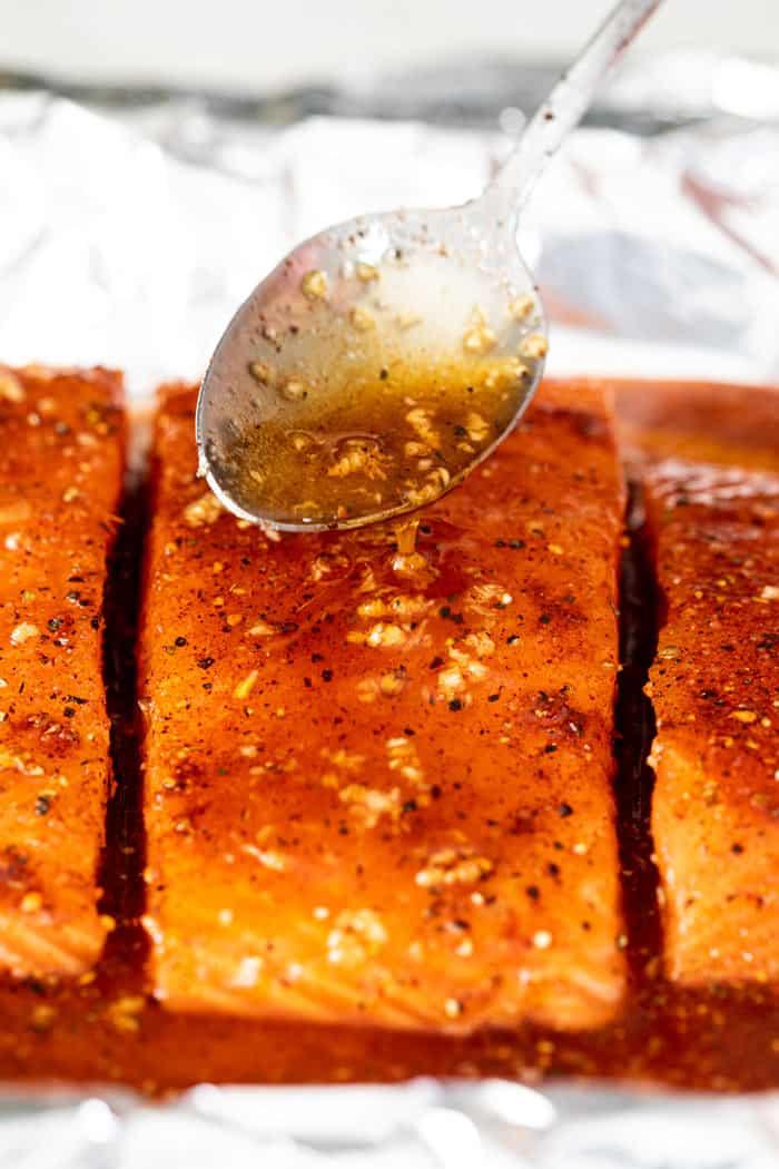 Maple glazed salmon 3 - Maple Glazed Salmon