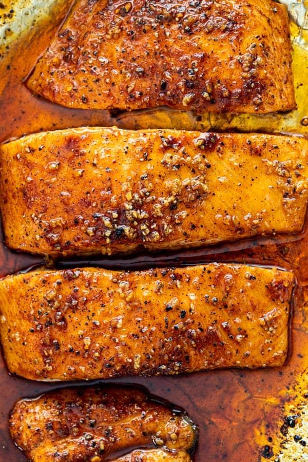 Maple glazed salmon 4 - Maple Glazed Salmon
