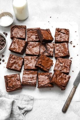 Fudgy Chewy Brownies 1 277x416 - Fudgy Chewy Brownies (The BEST!)