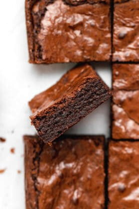 Fudgy Chewy Brownies 3 277x416 - Fudgy Chewy Brownies (The BEST!)