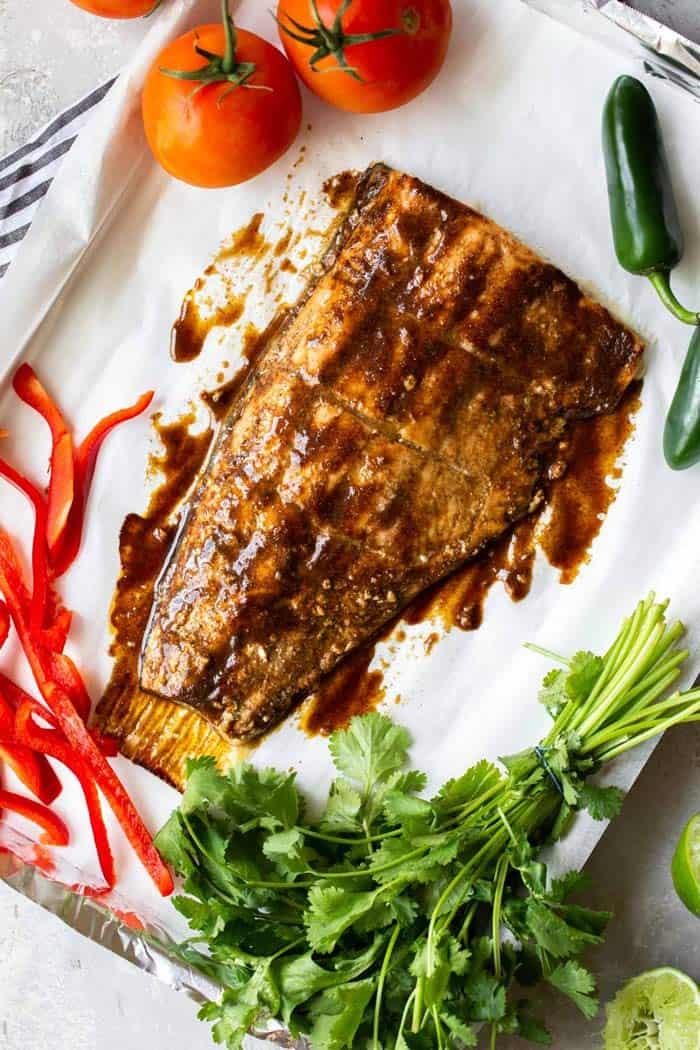 Jerk Salmon Recipe 1 - Jerk Salmon with Pineapple Salsa