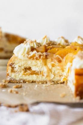 Peach Cobbler Cheesecake 3 277x416 - Peach Cobbler Cheesecake (With How To Video!!)