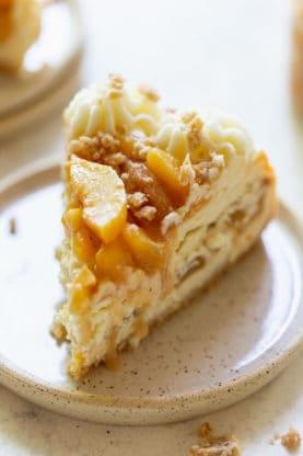 Peach Cobbler Cheesecake 4 277x416 - Peach Cobbler Cheesecake (With How To Video!!)