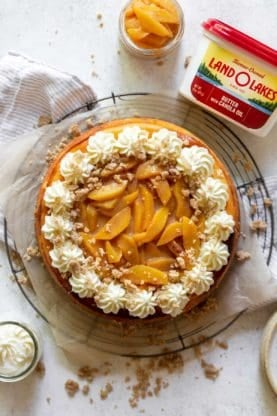Peach Cobler Cheesecake again 277x416 - Peach Cobbler Cheesecake (With How To Video!!)