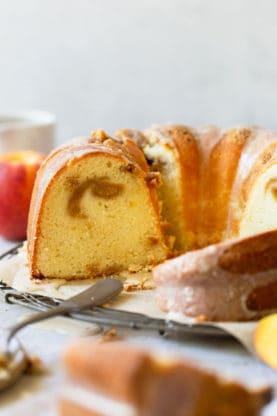 Peach Pound Cake 5 277x416 - Peach Pound Cake