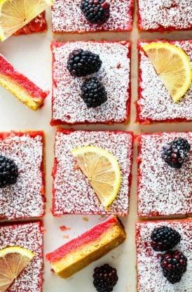 Blackberry lemon bars 4 274x416 - Blackberry Lemon Bars