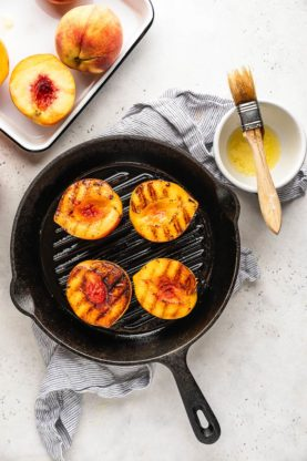 Grilled Peaches 2 277x416 - Grilled Peaches with Caramel Sauce
