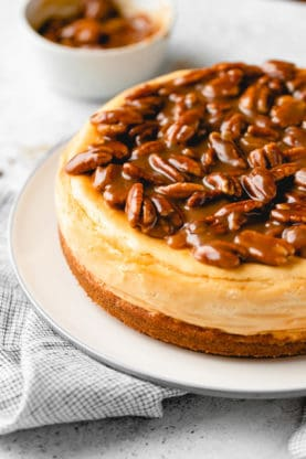 Butter Pecan Cheesecake 13 277x416 - Butter Pecan Cheesecake (With How To Video!)