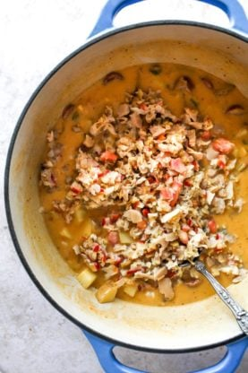 Clam Chowder InProcess3 277x416 - Cajun Clam Chowder