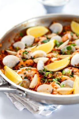 Seafood Paella 2 277x416 - Seafood Paella (Completely Keto!)