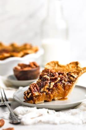 GBCakes SweetPotatoPecanPie Hero6 277x416 - Sweet Potato Pecan Pie (With How To Video)