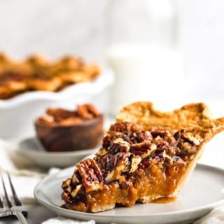 GBCakes SweetPotatoPecanPie Hero6 320x320 - Sweet Potato Pecan Pie (With How To Video)