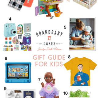 A collage of gift guide presents for the kids in 2020