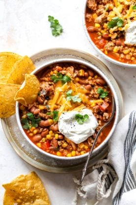 Taco Soup 4 277x416 - Taco Soup Recipe (Easy, Ready in 30 Minutes & Vegetarian Option)