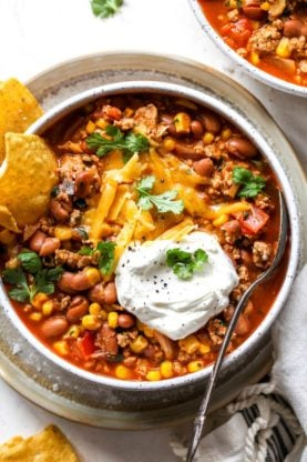 Taco Soup 5 277x416 - Taco Soup Recipe (Easy, Ready in 30 Minutes & Vegetarian Option)