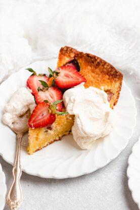 Strawberry Cornmeal Goat Cheese Skillet Cake 19 277x416 - Strawberry Cornmeal Cake (With How To Video)