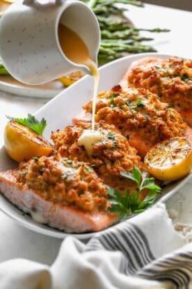 Crab Stuffed Salmon 7 277x416 - Crab Stuffed Salmon