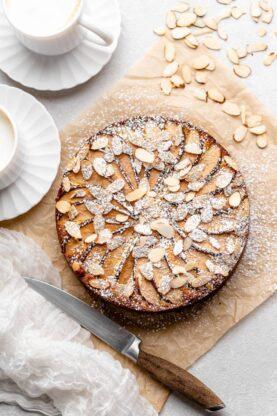 Pear Polenta Almond Cake 1 277x416 - Almond Cake with Pear and Polenta