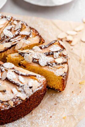 Pear Polenta Almond Cake 2 277x416 - Almond Cake with Pear and Polenta