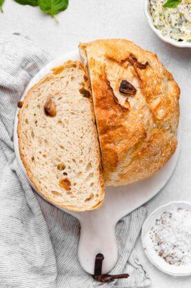 No Knead Bread 12 277x416 - Roasted Garlic No-Knead Bread