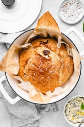 No Knead Bread 5 277x416 - Roasted Garlic No-Knead Bread
