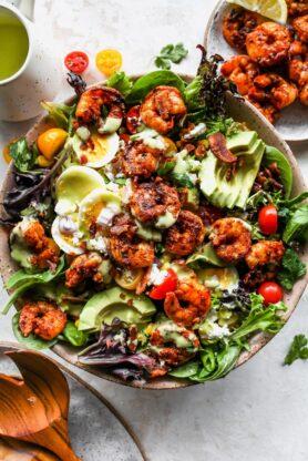 Cobb Salad 7 278x416 - Cobb Salad with Jerk Shrimp
