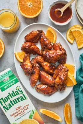 Honey Orange BBQ Wings 1 277x416 - Orange Honey BBQ Wings