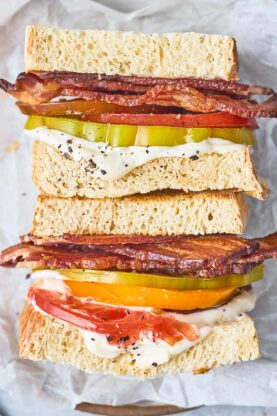 Tomato Sandwich 5 277x416 - The BEST Tomato Sandwich