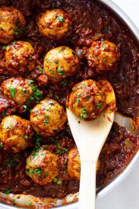 BBQ Meatballs 3 277x416 - BBQ Meatballs (Made with Ground Turkey!)