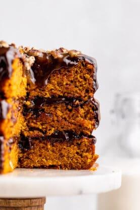 Pumpkin Spice Turtle Cake 7 277x416 - Pumpkin Spice Turtle Cake