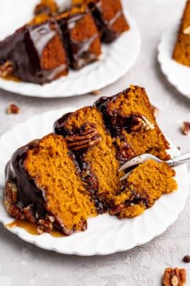 Pumpkin Spice Turtle Cake 9 277x416 - Pumpkin Spice Turtle Cake